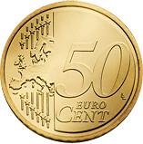 50 céntimos cara común