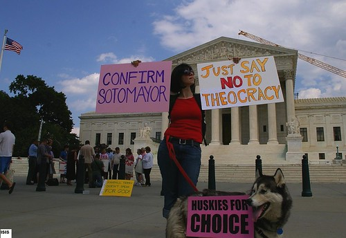 The One Pro-Choice Protester 7/12/09 Photo by Isis