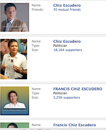 Chiz Escudero in FB