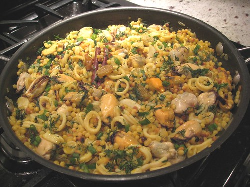 Fregola with Mussels and Squid