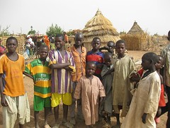 kids at huts