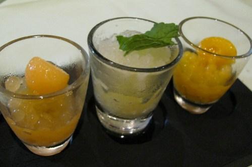 Calamansi Sorbet with Fruit Caviars at Amano