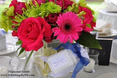 Wedding centerpiece and tea favor