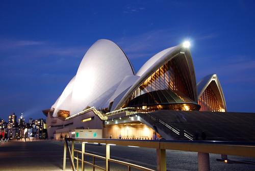 La Opera House por la noche
