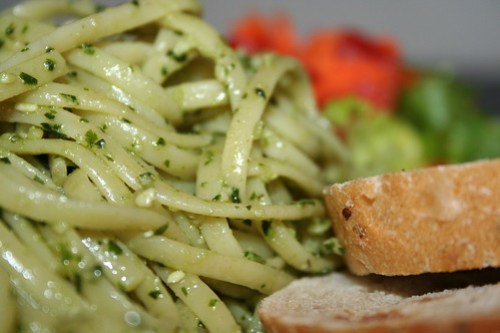 Linguini with Vegan Pesto