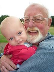 Roger Whittaker and grandchild
