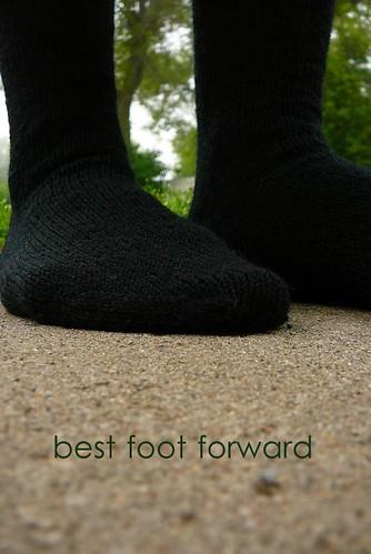 simple black socks