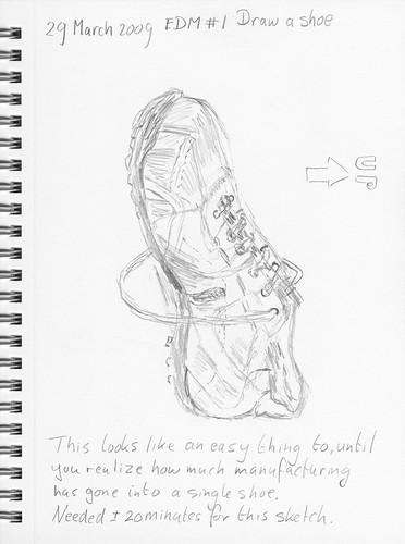 EDM # 1 - Draw a shoe