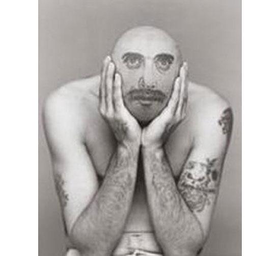 Real-life bald tattoo