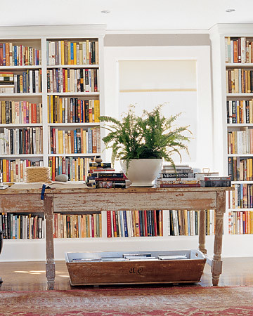 Martha Stewart Living bookshelf