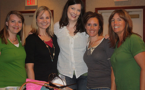 Heres Roxanne (Beckys sister), myself, Megan, Brenda and Becky.