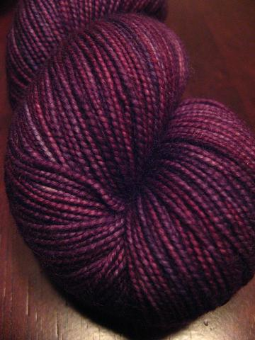 Grapelicious merino sock yarn - cause you know I didnt have any purple sock yarn