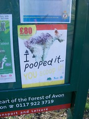 I pooped it...you scoop it!