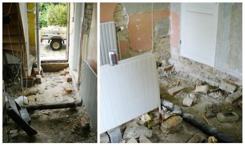 Kitchen demolition - mosaic