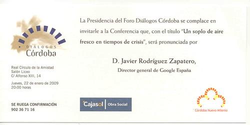 Conferencia Director General de Google España en Córdoba.