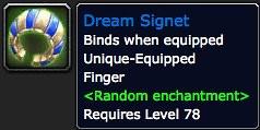 Dream Signet - Item - World of Warcraft