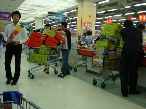 Chuseok im Supermarkt