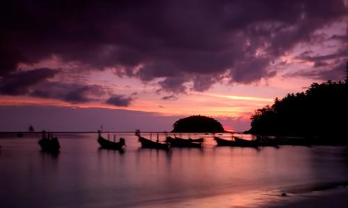 Kata Beach sunset, Phuket, Thailand (by scott photos)