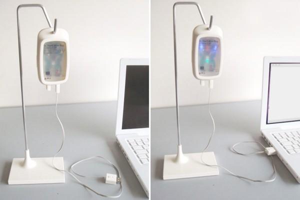 El suero digital. El diseñador Hyuh Jin Lee propone una forma original de reparar la PC ante posibles virus con un original disco rígido.