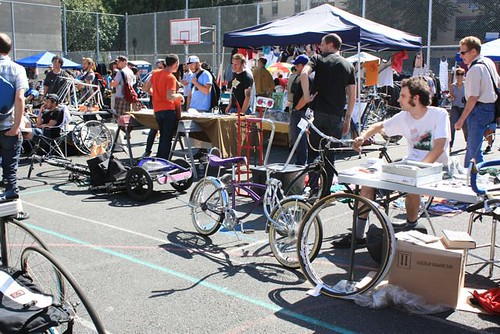 A flea-market type of bike sale, although I didnt find anything I wanted... only one yellow bike and it was $550 :(