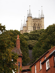 Lincoln Cathedral at the top of Steep Hill