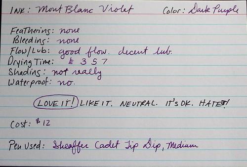 MB Violet Card
