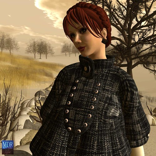 Tree and Ocean Second Life (TOSL) continues to produce marvelous and fun clothing like this Madelein cape.
