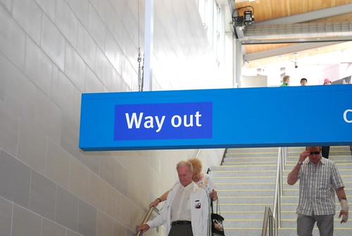 way out = exit