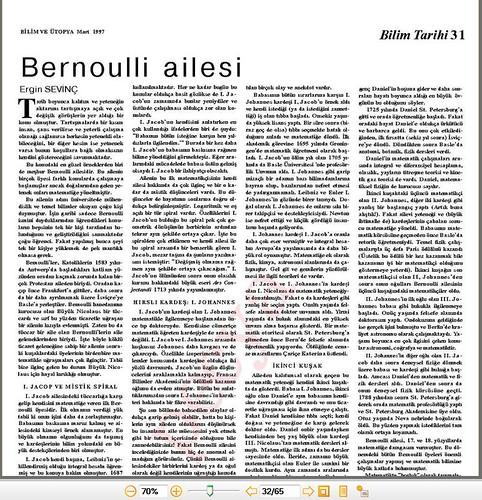 Bernoulli ailesi