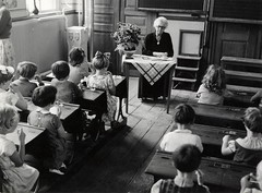 Schoolklas begin jaren '50 / Dutch classroom a...