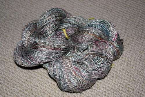 two ply hand dyed tussah silk