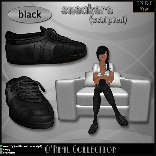 O'Neal sneakers black