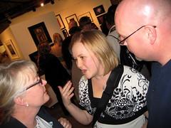 Gigi, Sara & Marc at the gallery
