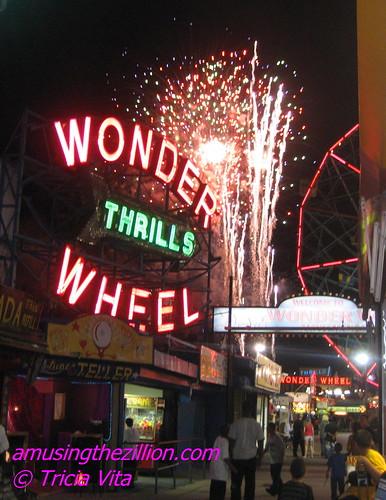 Coney Island Fireworks Viewed from Jones Walk. Photo © Tricia Vita/me-myself-i via flickr