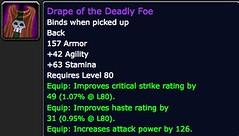 Drape of the Deadly Foe - Item - World of Warcraft