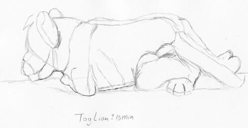 Toy lion 001