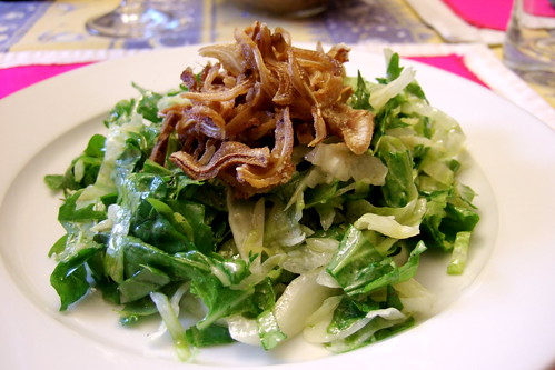 Crispy Pig's Ear Salad
