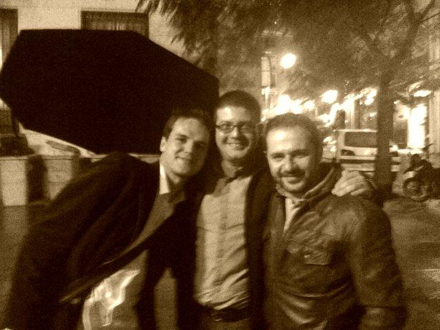 Con Kirai y Perdomo en Madrid