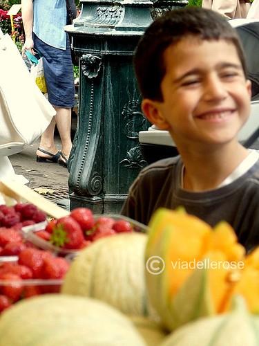 Au marché - fragole e melone -