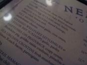 neptune oyster - menu