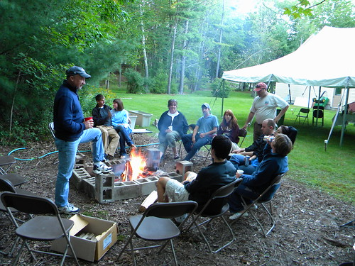 The day wrapped up hanging by the fire and a fireside game of apples to apples by light of the fire!