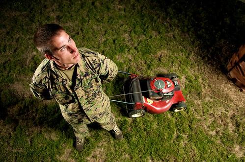 Military Mower Man