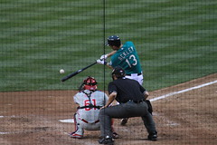 Dustin Ackley makes contact