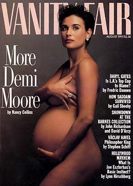 Nude Demi Moore on Vanity Fair Cover