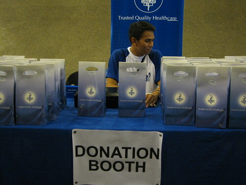 Unilab's donation booth at RockMed