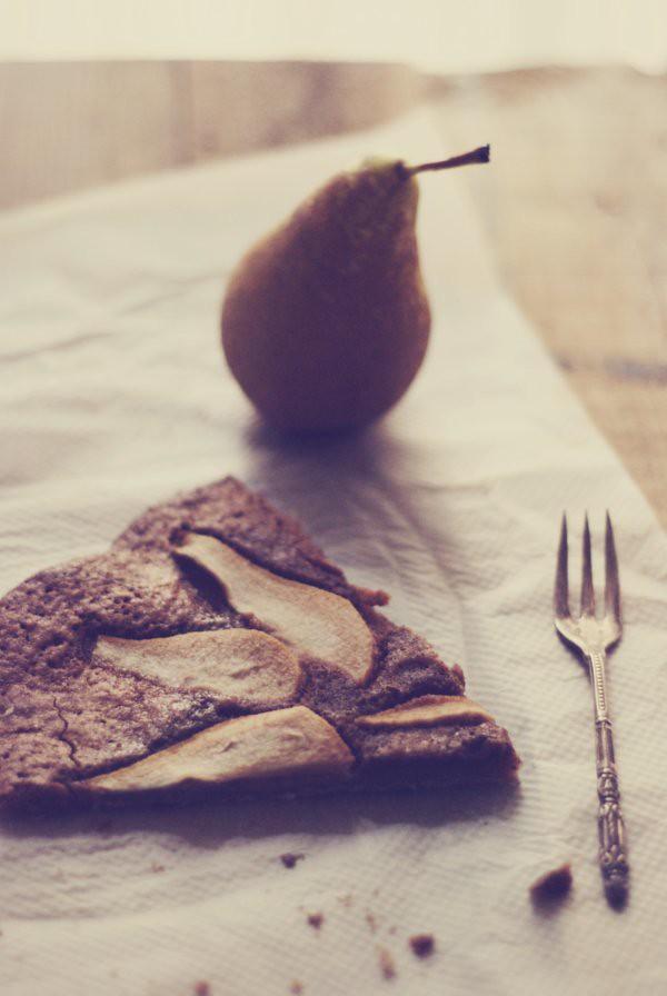 frangipane de chocolate y pera