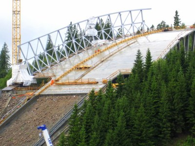 Holmenkollen under construction. Photo: Flickr.com