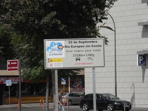 Cartel Día Europeo sin Coches 2009.