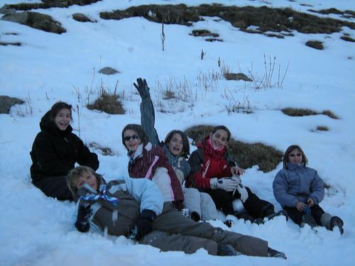 Estirar-se a la neu