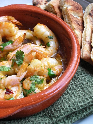 shrimp with garlic and chipotle